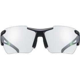 UVEX Sportstyle 803 Race Vario Glasses Small black/green matt/silver